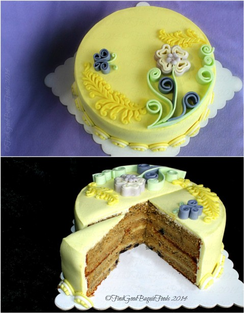Baguio Waistline Luxuries blueberry-lemon-lavender-quilled fondant cake 2014