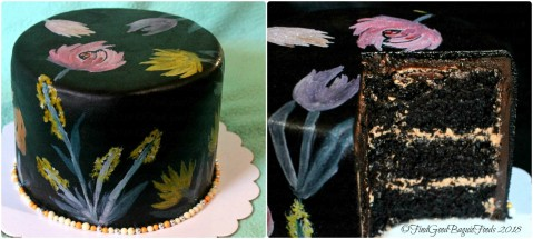 Baguio Janna Bakes moist chocolate painted fondant cake 2018