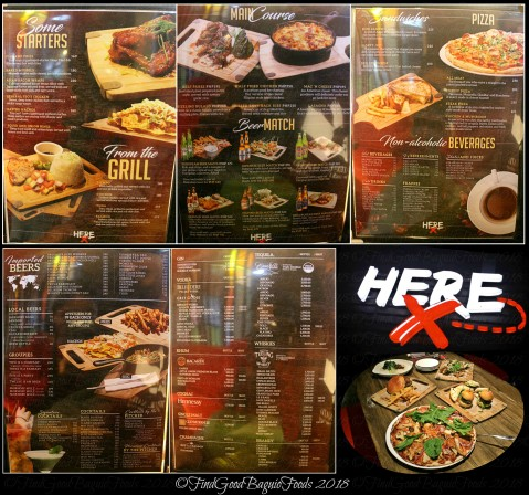 Baguio Here Gastropub menu 2018
