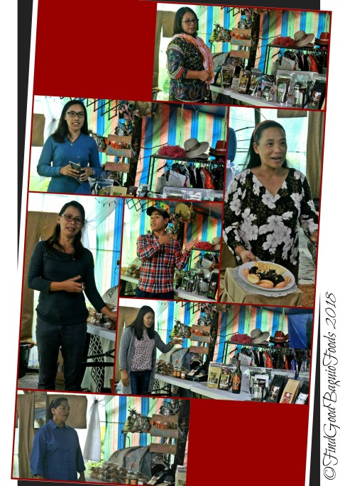 The presenters at the DTI Ifugao food tasting 2018