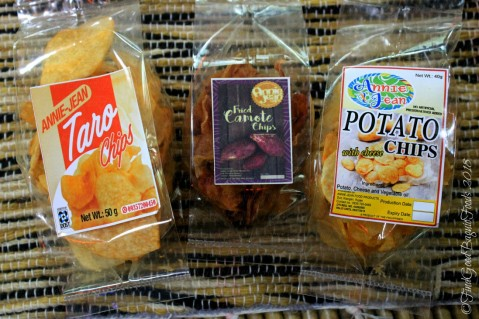 Ifugao Annie Jean Chips 2018 taro chips, fried camote chips and potato chips