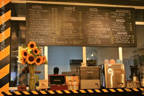 Baguio Street 77 Cofeteria Galleria menu 2018
