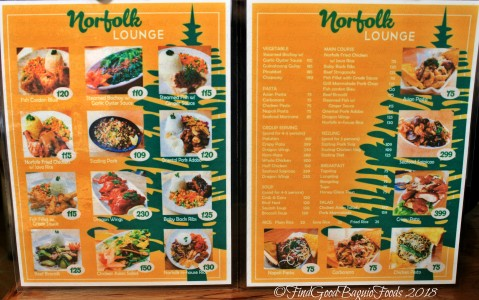 La Trinidad metro Baguio Norfolk Diner menu 2018