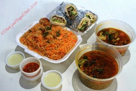 Baguio Shahi Qila Pakistani Food Delivery Service shrimp biryani, shawarmas, veggie masala, daal channa 2018