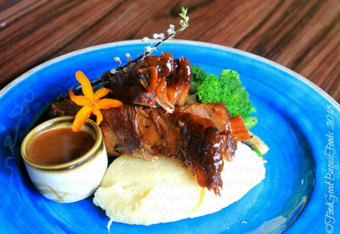 Baguio The Flower Cafe at Villa Romana Hotel baby back ribs with mashed potato 2018