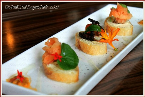Baguio The Flower Cafe at Villa Romana Hotel octopus and salmon canape 2018