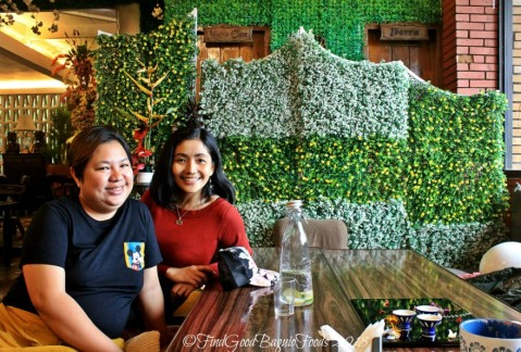 With barista and proprietor, Ate May at Baguio The Flower Cafe at Villa Romana Hotel 2018