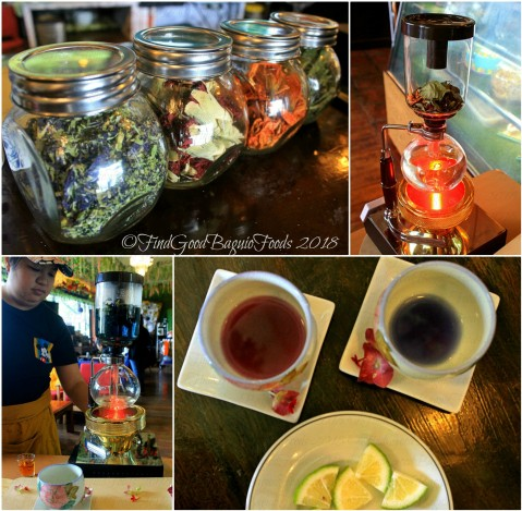 Baguio The Flower Cafe at Villa Romana Hotel flower pot siphon tea 2018