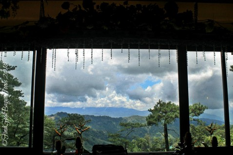 The view from Baguio The Flower Cafe at Villa Romana Hotel 2018