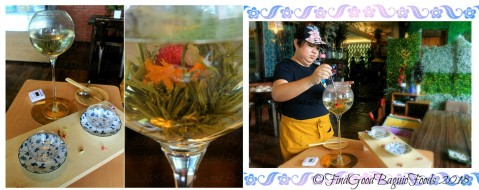 Baguio The Flower Cafe at Villa Romana Hotel blooming tea 2018