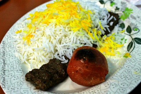 Baguio Amohosein Iranian Food and Beverages chelo kebab with rice (minced beef) 2018