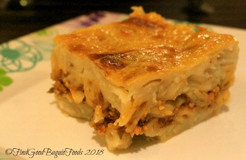 Baguio Elshabab Restaurant (Araby Restaurant) baked macaroni bechamel, Arabic lasagna 2018