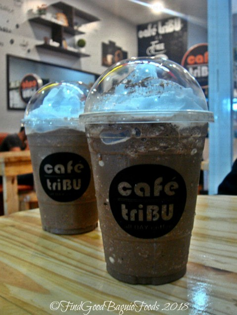 Baguio Cafe Tribu 2018 dark choco freezee and choco mint freeze
