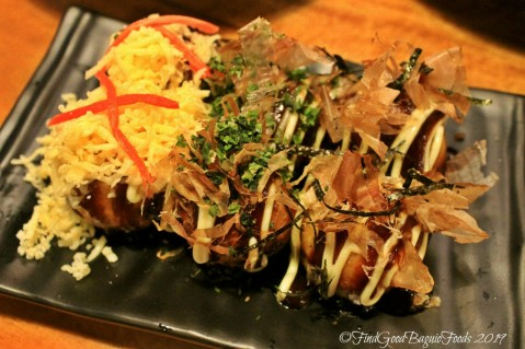 Baguio Homie's Milk Tea and Takoyaki quail egg, bacon, octopus takoyaki 2019