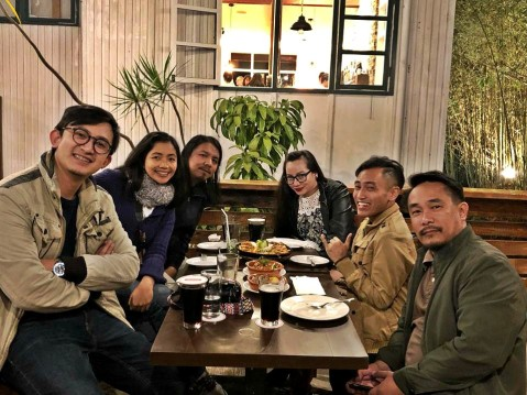X and foodie blogging friends at Baguio Craft 1945 - Casa Marcos 2019