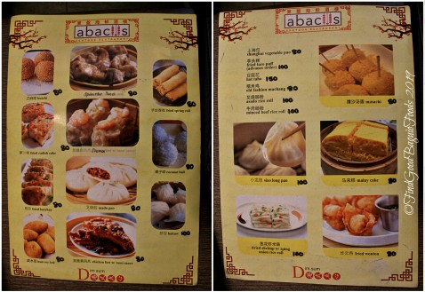 Baguio Abacus Seafood Restaurant at Travelite Hotel Legarda menu 2019