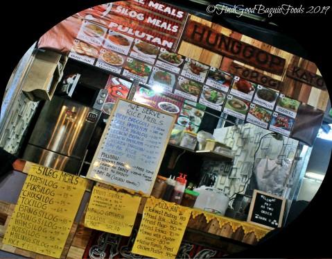 Baguio Hunggop Kayu at Food Hub menu 2019