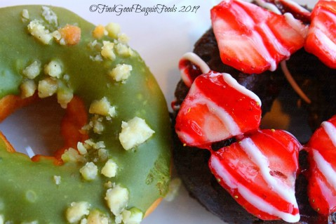 Baguio Krispy Kreme matcha doughnut and double choco strawberry cake donut 2019