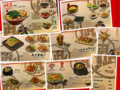 Baguio Ramen Nagi menu 2019