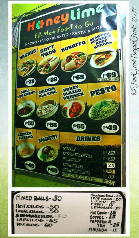Baguio Honey Lime Fil-Mex Food to Go menu 2019