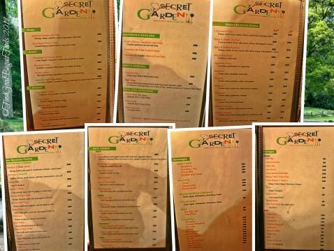 Baguio Secret Garden Pizza and Pasta Restaurant and Cafe menu 2019