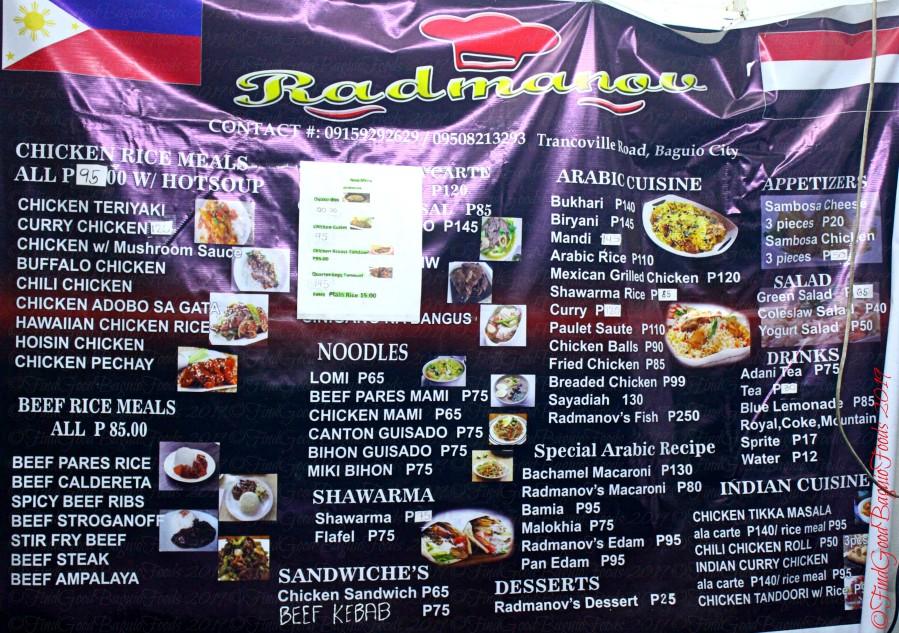 2019-03-19 Baguio Radmanov Filipino and Arabic Food | X Marks the