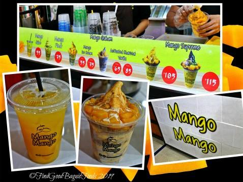 Baguio Mango Mango menu 2019
