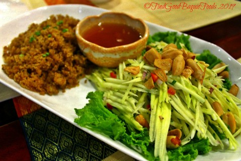 Baguio Somtam Thai Restaurant 2019 yum pla dook foo - crispy cat fish with green mango salad