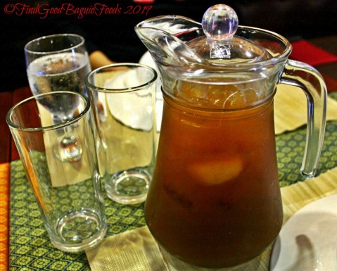 Baguio Somtam Thai Restaurant 2019 house blend tamarind iced tea