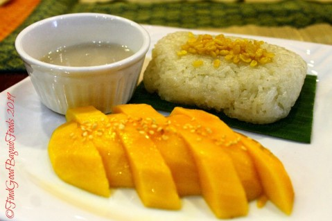 Baguio Somtam Thai Restaurant 2019 khao nieaw mamauang - sticky rice with mango
