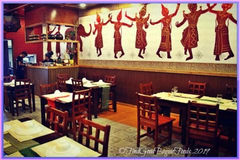 Baguio Somtam Thai Restaurant dining area 2019