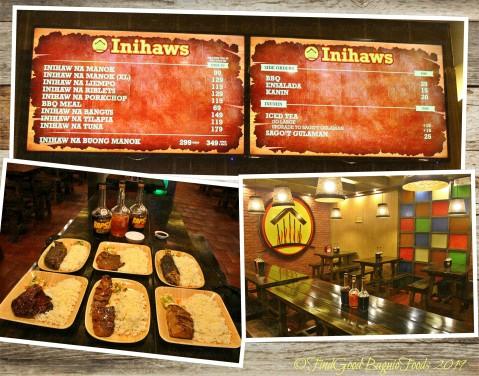 Baguio Inihaws 2019 menu