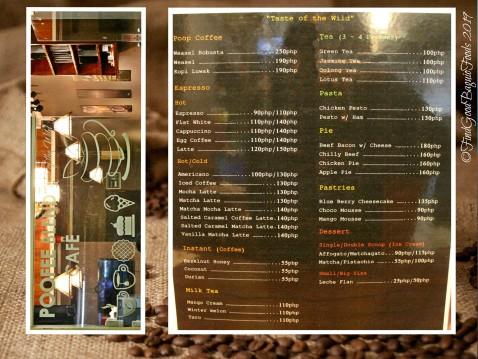 Baguio Poofee Blend Cafe 2019 menu