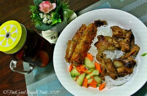 Baguio Pho Hanoi Vietnamese Restaurant 2019 Bun - fresh noodles, spring rolls, and grilled pork