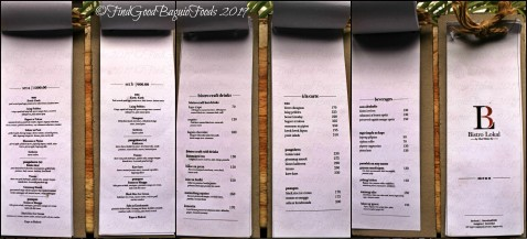 Baguio Bistro Lokal by Chef Miko Dy 2019 menu