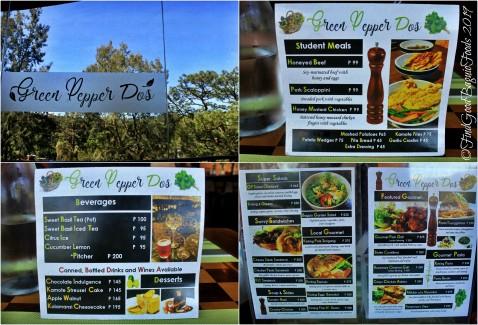 Baguio Green Pepper Dos 2019 menu