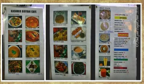 Baguio Kashmir Biryani Cafe 2019 menu
