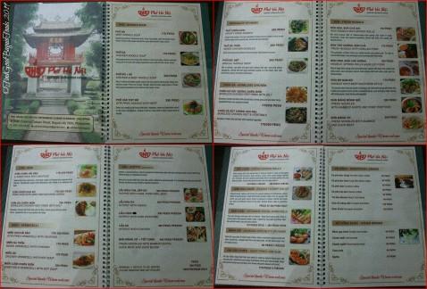 Baguio Pho Ha Noi Vietnamese Restaurant 2019 menu