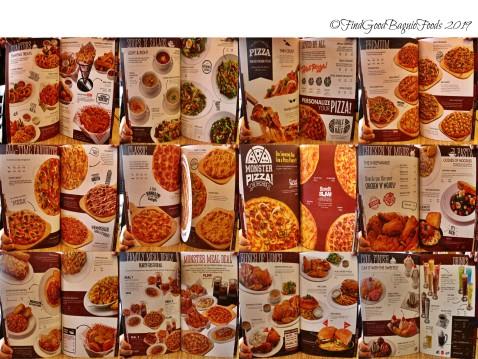 Baguio Shakey's Pizza Parlor 2019 menu