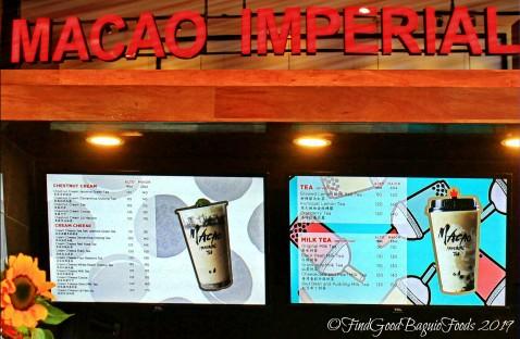 Baguio Macau Imperial 2019 menu