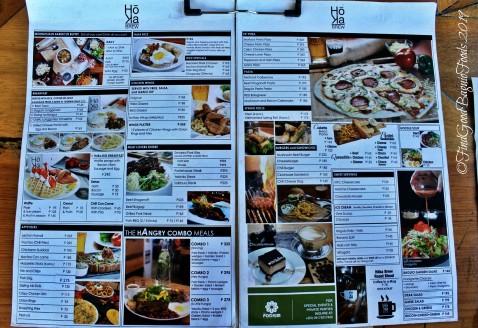 Baguio Hoka Brew at The Podium Hotel 2019 menu