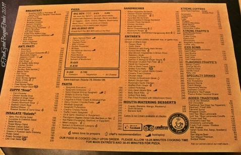 Baguio Xtremely Xpresso Cafe/Ben's Kitchen 2019 menu