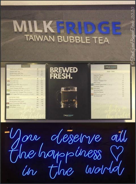 Baguio Milk Fridge Taiwan Bubble Tea 2020 menu