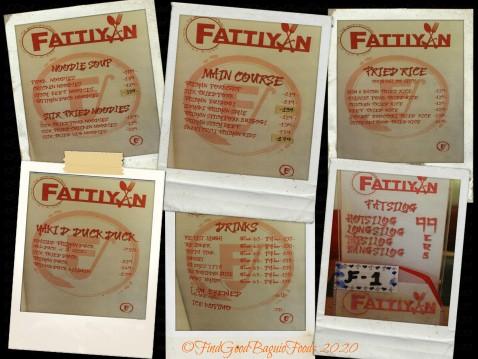 Baguio Fattiyan Restaurant 2020 menu