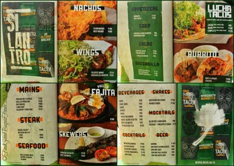 Baguio Silantro Fil-Mex Cuisine 2020 menu