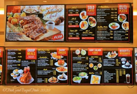 Baguio Kenny Rogers Roasters 2020 menu