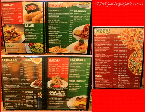 Baguio Don Henrico's 2020 menu