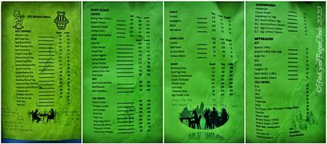 Baguio Marosan's Restaurant 2020 menu