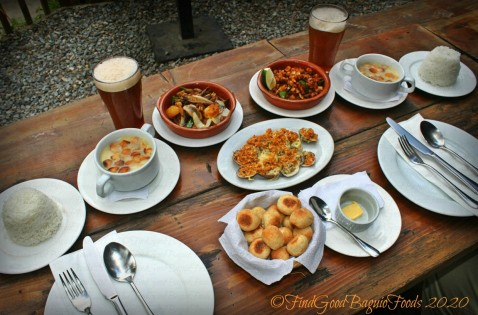 Lunch sets and almejas at Baguio Craft 1945 2020