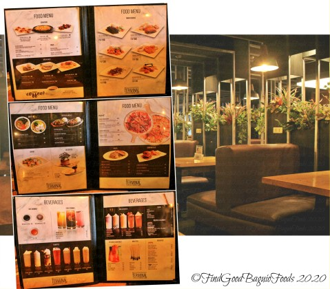 Baguio The Terminal Resto Cafe 2020 menu